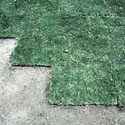 Sod squares laid out