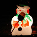Lighted plastic snowman