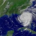 Satellite photo of Hurricane Frances over Florida