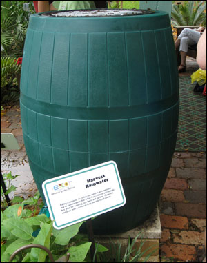 Rain barrel at the International Flower Show at Epcot