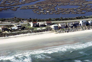 Ariel view of Atlantic coastal community
