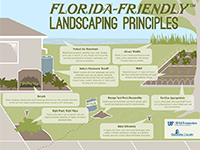 A graphic listing the nine Florida-Friendly principles