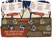 A graphic with tips on gardening without commercial pesticides