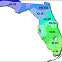 Chilling hours map of Florida