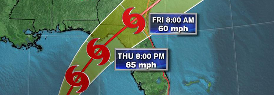 tropical storm path graphic