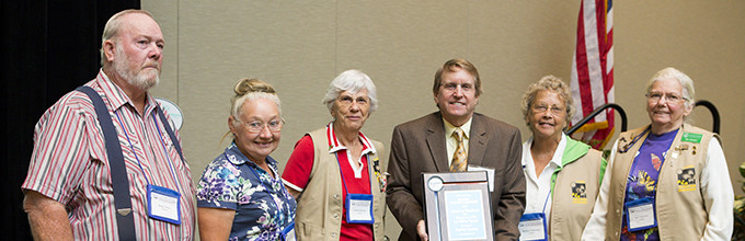 Awardees at 2013 Master Gardener conference