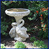 Decorative concrete birdbath