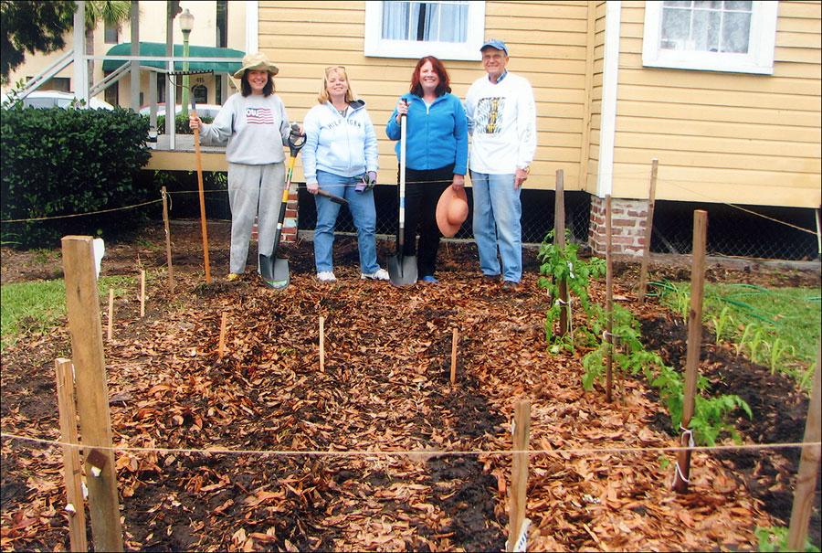 Master Gardeners beginning work on the Heritage Railroad Garden