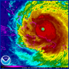 Satellite image of Hurricane Irma courtesy of NOAA