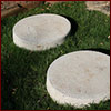 Round concrete stepping stones