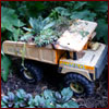 Toy truck used as a planter