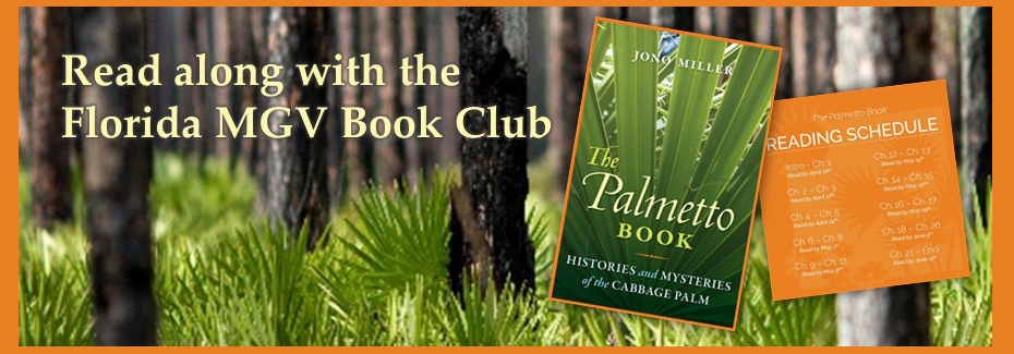 A graphic for the Master Gardener Volunteer Book Club that links to the information webpage.