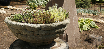 Learn how to make hypertufa planters on June 2