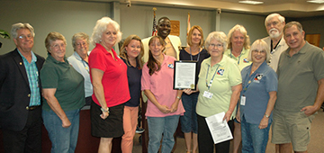 St. Lucie Master Gardeners at County Commissioners meeting