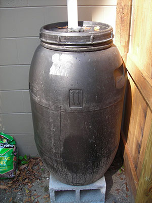 A simple rain barrel